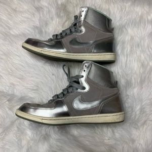 Nike l Silver Dunk High Top Sneakers